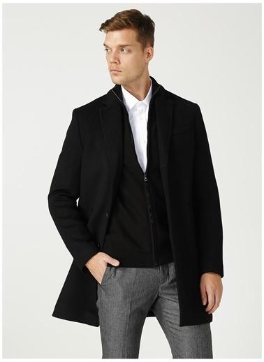Fabrika Comfort Fabrika Comfort Ceket Yaka Düz Siyah Kaban Siyah